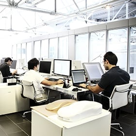Working environment with several computers