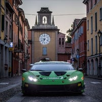 Huracan GT3 Evo in the streets of Sant'Agata Bolognese