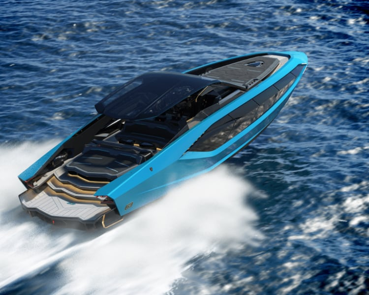 Tecnomar for Lamborghini 63: the motor yacht unveiled