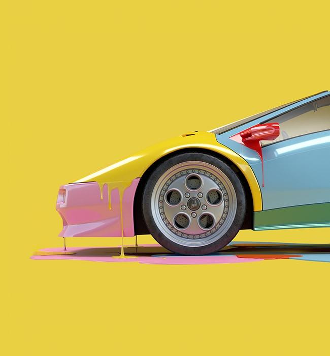 Lamborghini Diablo interpreted by digital artist Chris Labrooy