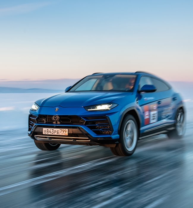How Lamborghini Urus set a high-speed record on ice