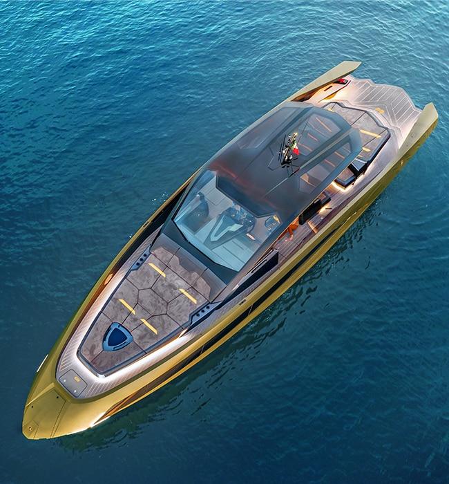 The new Tecnomar for Lamborghini 63 motor yacht has arrived