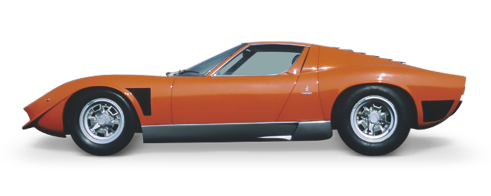 Profile of an orange Lamborghini